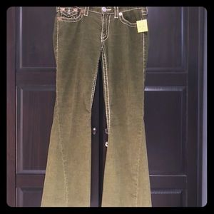Altered True Religion Joey Big T Olive Green Cords